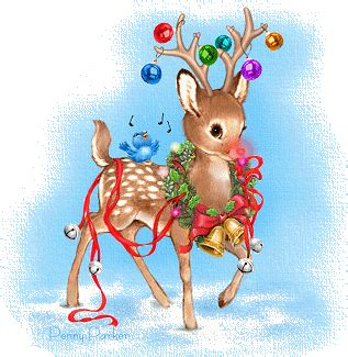 christmas animals animated pictures animations animal myspace cliparts
