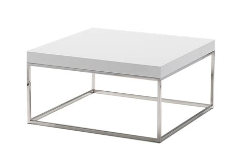 Square Coffee Table White Kubo Square Coffee Table High Gloss White