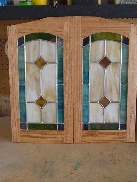 glass panels kitchen cabinet doors diy stained glass cabinet doors mf cabinets