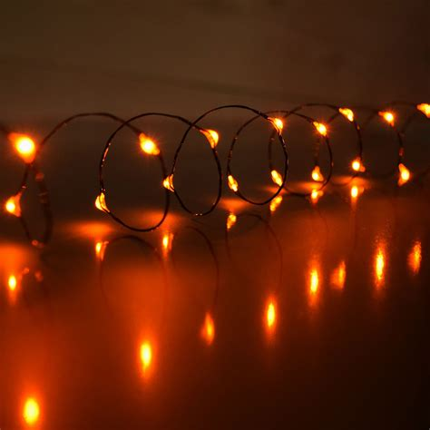 Orange Led Mini Battery Operated String Lights Stringing Lights