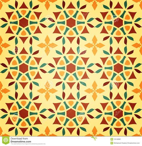 pattern islamic floral floral islamic seamless pattern stock vector
