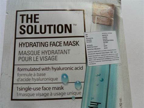 The Solution Hydrating Mask the shop the solution hydrating mask review