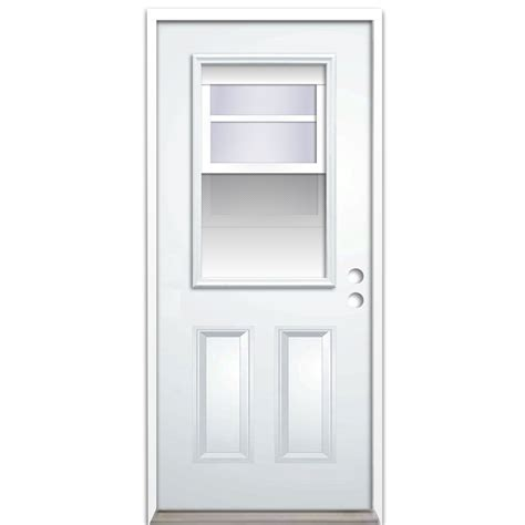 30 X 80 Exterior Door With Window Shop Reliabilt 2 Panel Insulating Vented Glass With Screen Left Inswing Steel Primed