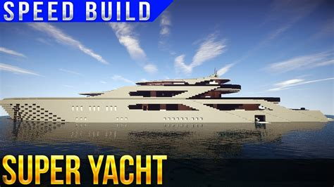 how to make a big yacht in minecraft super yacht speed build minecraft youtube