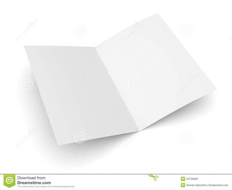 folded business card template blank folded flyer booklet or brochure mockup stock