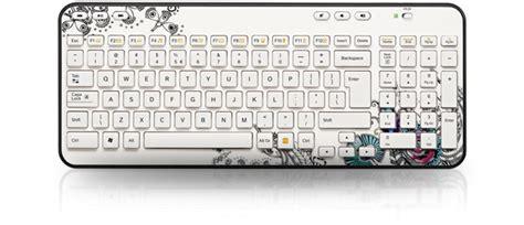 flower design with keyboard logitech wireless keyboard k360 floral foray clavier