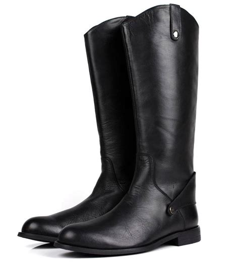 knee high motorcycle boots popular mens knee high leather riding boots buy cheap mens
