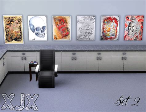 tattoo wall art mod the sims shop decoration flash