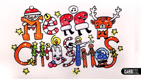ideas on how to draw names for christmas merry how to draw and kawaii letters by garbi kw