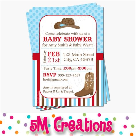 Cowboy Decorations For Baby Shower by Cowboy Baby Shower Printable Decorations Western