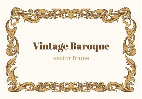 Cadre Photo Vintage by Cadre Vectoriel Baroque Vintage Gratuit T 233 L 233 Chargez De L