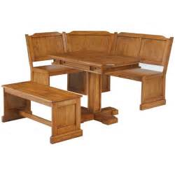 dining set breakfast nook linon chelsea kitchen dining nook set in natural finish gallery