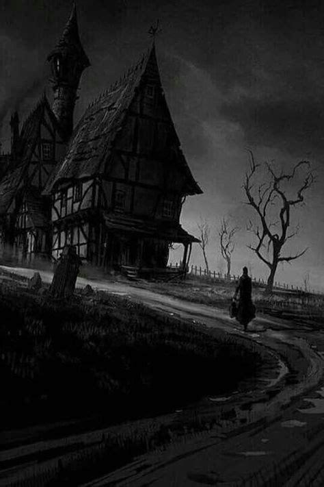 haunted mansion | Creepy drawings, Dark fantasy, Dark art