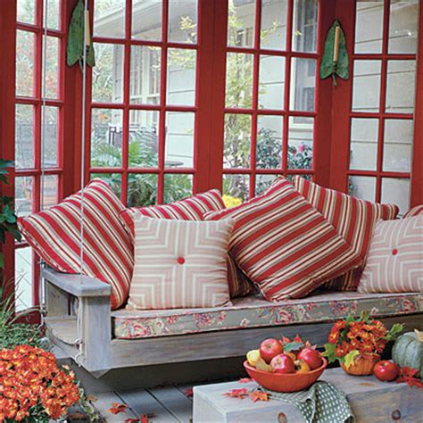 red patio swing a paisley day beautiful southern porches