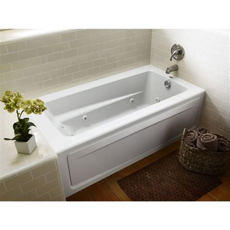 jacuzzi bathtubs lowes jacuzzi primo white acrylic rectangular whirlpool tub
