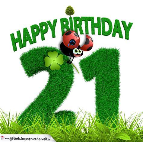 21 Geburtstag Bilder by 21 Geburtstag Als Graszahl Happy Birthday