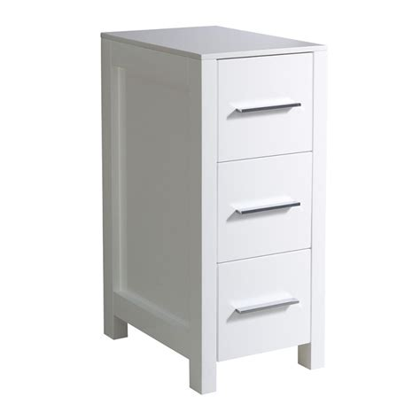 fresca torino 12 quot white bathroom linen side cabinet