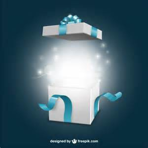 Open present box blue gift box vectors photos and psd files free