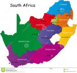 Outline Map Of South Africa With Major Cities by South Africa Map Stock Photos Image 8967833
