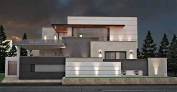 Front Elevation For House 1 Knal Modern House At F8 Islamabad By Jamshaid Khan