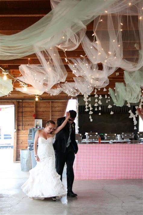 diy wedding reception ceiling decorations tulle string lights ceiling weddingbee photo gallery