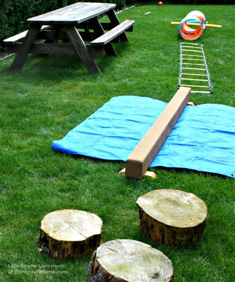 backyard obstacle course for kids outdoor obstacle course for preschoolers outdoor