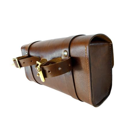 Handmade Saddlebags - handlebar tool bag walnut clouds collective made