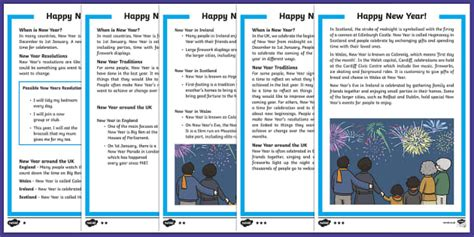 new year eyfs twinkl ks1 new year differentiated reading comprehension activity