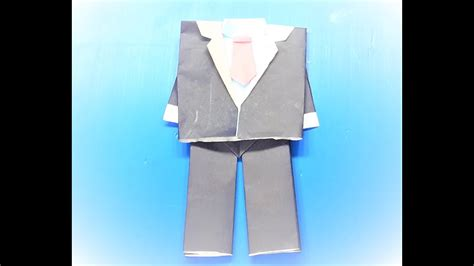 How To Make Paper Jacket - how to make a paper origami jacket shirt with tie