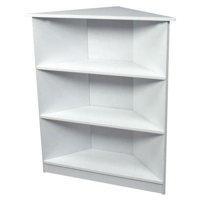 gift 3 tier corner bookcase white shelves corner