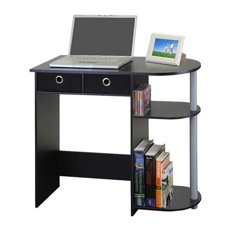 Computer Desk For Laptop Small Computer Desk Writing Laptop Table Drawers Home Workstation Black Grey Ebay