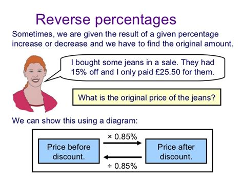 using diagram to find percent calculate percentage change