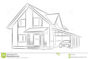 sketch a house sketch of a private house stock illustration image 65751423