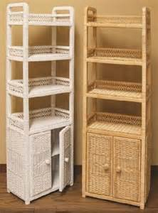 White Wicker Bathroom Furniture Wicker Storage Shelves Wicker Corner Cabinet Shelf