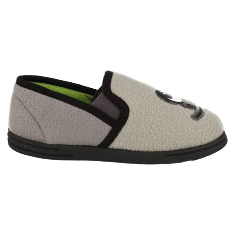house shoes for boys infant junior boys clarks house slippers movello rise ebay