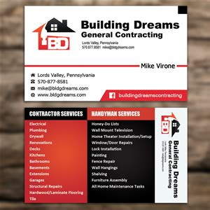 general contracting haverford isselmann design build 119 professional building business card designs for a