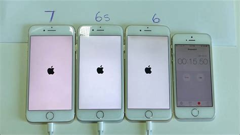 iphone 6 vs 6s iphone 6 vs 6s vs 7 power and boot up test