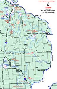 Eastern Michigan Map by North Eastern River Map Submited Images
