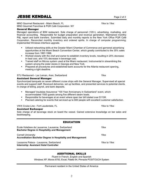 best restaurant manager resume example livecareer