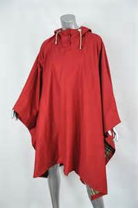 Luxury Designer Resale - burberry womens red cotton hooded cape poncho rain jacket coat os one size