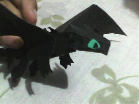 Origami Toothless - fury toothless paper by nightfury0123 on
