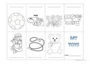 my toys mini book worksheet free esl printable