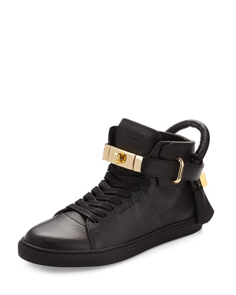 buscemi sneakers womens buscemi s padlock and key pebbled leather sneaker in