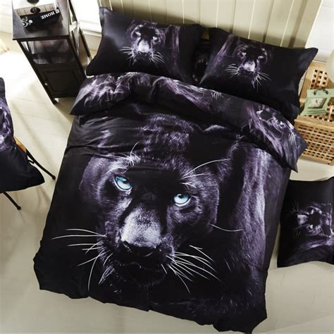 black panther cotton 3d bedding set