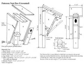 Peterson Bluebird House Plans Image Mag Bluebird House Plans