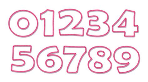 embroidery design number 14 number embroidery fonts designs images embroidery