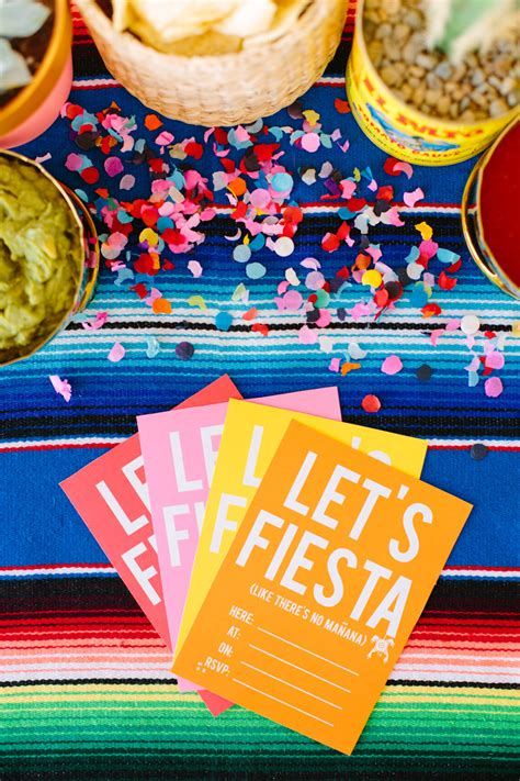 Let s fiesta invitations and party treats