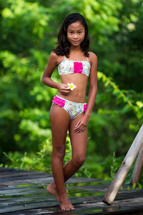 junior swimwear models springtime girls bikini escargot