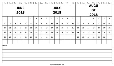printable weekly calendar june 2018 journalingsage com june july august 2018 calendar printable happyeasterfrom com