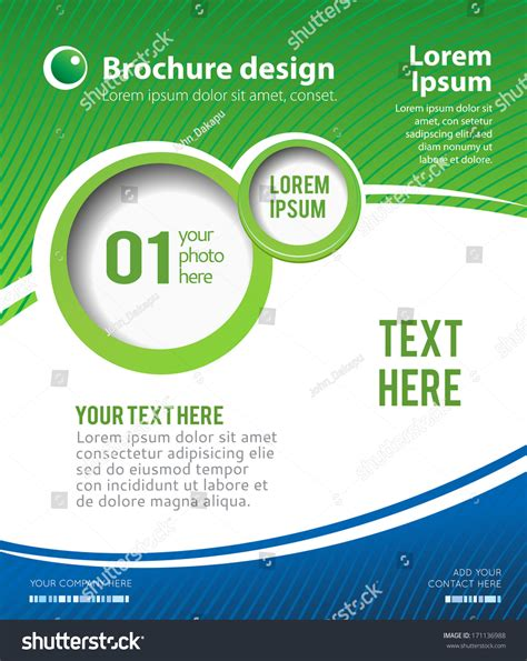 poster page layout stylish presentation business poster magazine cover stock